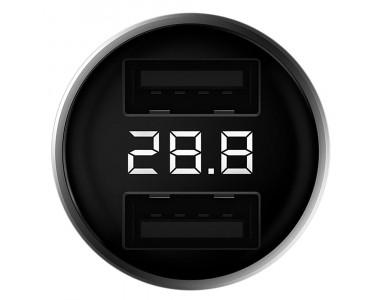 Автомобильное зарядное устройство Xiaomi ZMI Car Charger AP621 2USB 3A with LED silver