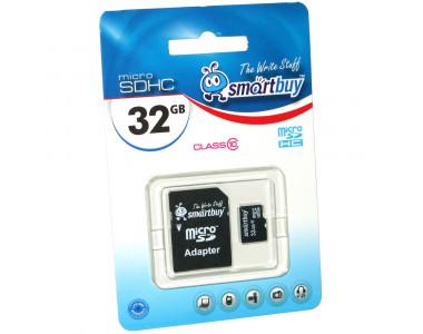 Карта памяти microSDHC 32Gb SmartBuy Class 10