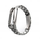 Сменный браслет Xiaomi Mi Band 3 металлический (Серебро)